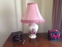 Various table lamps and shades