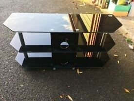 Black Glass TV and Multimedia stand