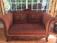 VERY LARGE Sofa and armchairs - will sell seperately, if required