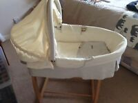 Rocking Moses basket and stand