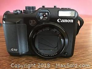 High Quality Digital Camera - Canon G10, with battery and 4GB SD memory card - A