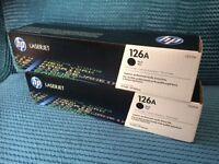 brand new HP laserjet inks 126A black x 2