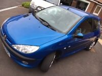 Peugeot 206 ZEST2 - excellent condition, low mileage and new cambelt