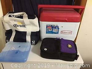 Coolers And Lunch Bag