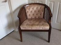 Chairs (2): solid mahogany curved