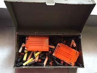 Nerf gun spare bullets in case