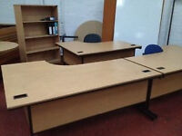 Large Beech Curved Desk - Great Condition