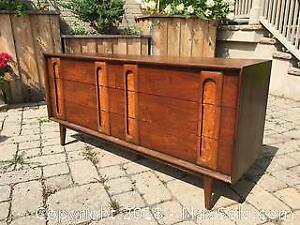 Mid Century Lane Altavista Dresser And Mirror