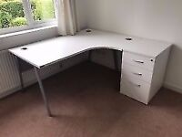 White Desk with Separate Side Return
