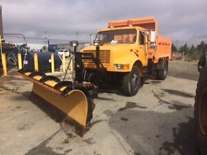 International DT466 with plow and dump spreader St. John's Newfoundland image 2