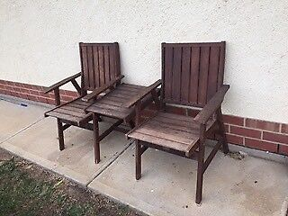 Outdoor Wooden 2 Seater with table