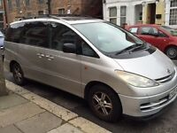 Toyota Previa (2003) 2.4 VVT-i T Spirit 5dr, Leather seats and upgraded multimedia station.