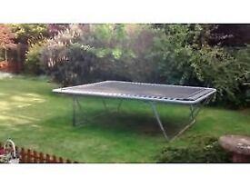 Very bouncy rectangular trampoline