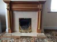 Gas Fire - living flame & full fireplace