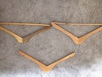 Collection of wooden coat hangers - 40 in total. Excellent condition.