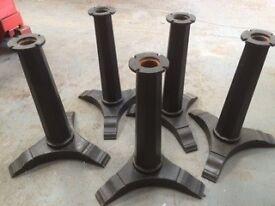 Cast iron table legs/ pub table