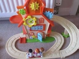 tickety-toc house with play figures