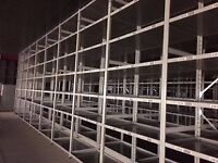JOB LOT 50 bays of LINK industrial shelving 3m high AS NEW ( storage , pallet racking )