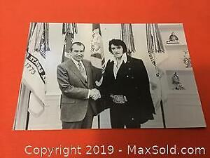 Vintage postcard of Elvis and Tricky Dicky