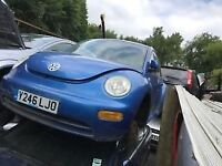 VW BEETLE 2000 BLUE 1.6 PETROL 3DR BREAKING FOR SPARES