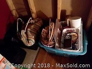 Xbox 360 Racing Wheel and Foot Pedals, Wicker Baskets, Laundry Baskets, and More. A
