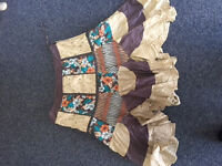 womens next multi pattern skirt size 12
