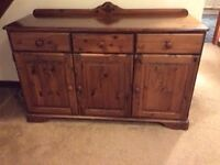 Three Door Wooden Unit/Sideboard
