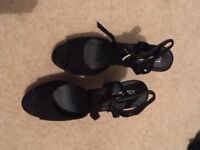 LADIES BLACK TOPSHOP HEELS SIZE 7
