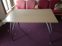 1200MM x 800MM Table with Chrome Legs