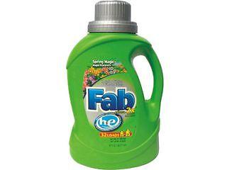 Fab 37060 2X HE Liquid Laundry Detergent, Spring Magic, 50oz, Bottle, 6/Carton,