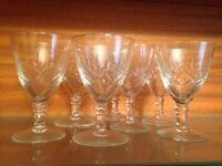 Crystal Port Glasses