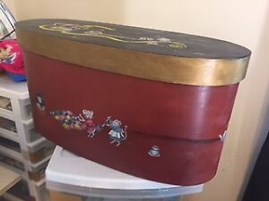 Unique Hand Painted Sewing Box just in time for Christmas
