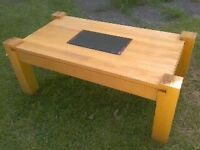 HANDCRAFTED SOLID BEECH TIMBER COFFEE TABLE