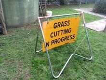 Metal frame Grass Mowing sign Strathalbyn Alexandrina Area Preview