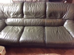 Leather sofa set!