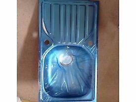 KITCHEN SINK & DRAINER SATIN STAINLESS STEEL 1-BOWL 760 X 430MM