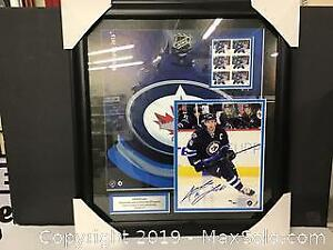 Andrew Ladd hand signed framed photo with COA
