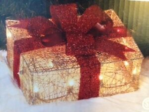 Lighted Xmas Box