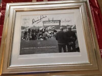 Manchester United Signed Photograph - Exclusive 30th Year Anniver-A Team for all Seasons Replayed.