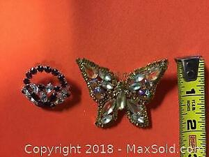Costume Jewelry Brooches Wess and Sherman Signed