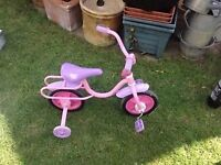 Pink girls bicycle /tricycle