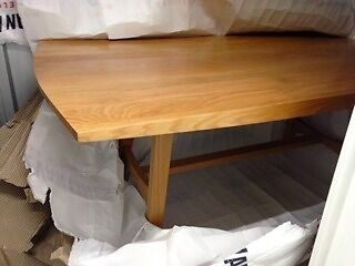 American White Oak Dining Table And Bench Scandinavian Style