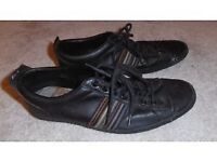Mens Paul Smith black leather 'Rabbit' trainers size 6