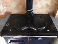 Esse oil fired cooker with two hot plates. Model heats hot water and central heating