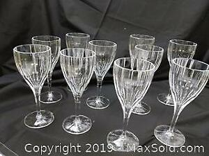 10 Nachtmann Crystal Wine Glasses