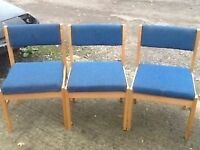 Office /Waiting room chairs x 3 reasonable condition