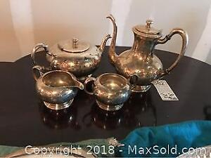 Wm. Rogers 4pc. Tea Set - A