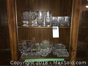 Crystal Glasses, Ashtrays and More. A