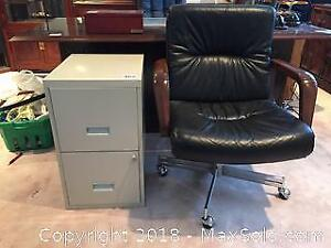 Office Chair And File Cabinet A