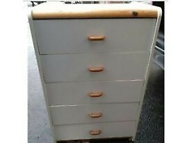 White Chest of Five Drawers